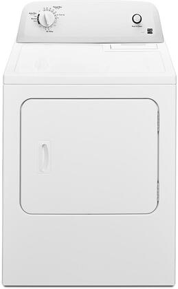 "Kenmore 26-0012 29"" Dryer with 6.5 cu. ft. Capacity, 12 Dry Cycles, Air Dry Cycle and Reversible Door in White"