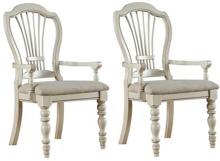 Hillsdale Furniture 5265803 Pine Island Series Traditional Fabric Wood Frame Dining Room Chair