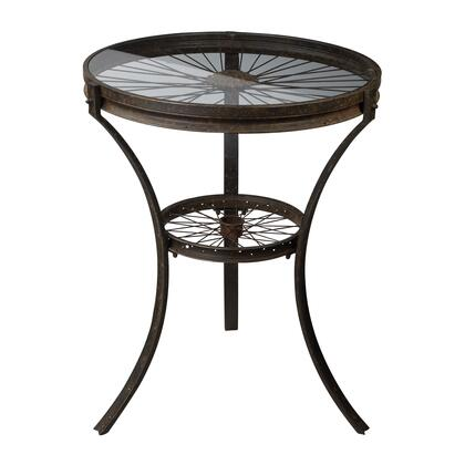 Sterling 1291011 Restoration Series Industrial Metal Round None Drawers End Table