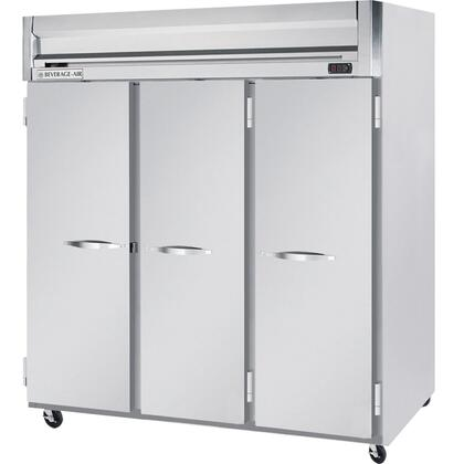 Beverage Air HRS3-1 Three Section [Solid Door] Reach-In Refrigerator, Stainless Steel Exterior and Interior Finish