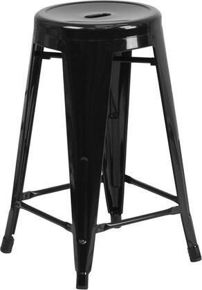 Flash Furniture CH3135024BKGG Residential Not Upholstered Bar Stool