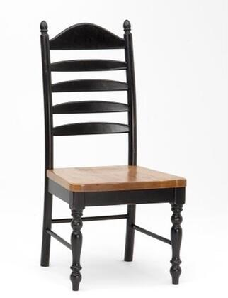"Intercon Furniture Hillside Village HV-CH-489W-B 41"" Dining Room  adder Side Chair with Alder, Turned Legs, 1.25"" Knotty Alder Chair Seats in"