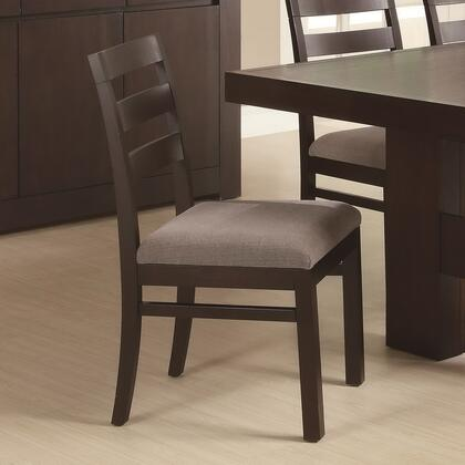 Coaster 103102 Dabny Series Casual Fabric Wood Frame Dining Room Chair