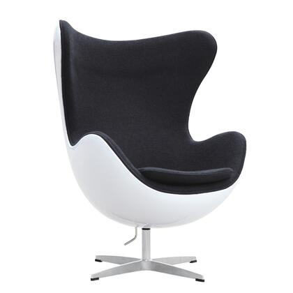 Fine Mod Imports FMI9011 Fiesta Fiberglass Chair In Wool: