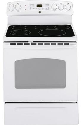 GE JB645DTWW  Electric Freestanding Range with Smoothtop Cooktop, 5.3 cu. ft. Primary Oven Capacity, Storage in White