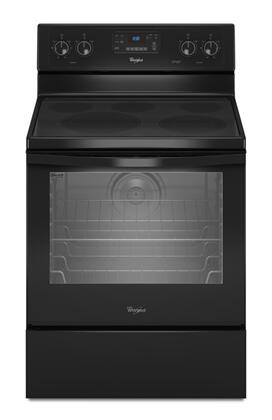 Whirlpool WFE540H0AB  Electric Freestanding Range with Smoothtop Cooktop, 6.2 cu. ft. Primary Oven Capacity, Storage in Black