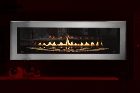 """Napoleon LHD50SS2 2-Sided Swarovski Special Edition Linear Front View Fireplace With 50% Flame/Heat Adjustment, Modulating Thermostatic Hand-Held Remote & Innovative """"Necklace"""" Tray Design"""