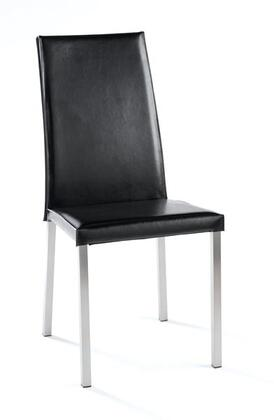 Tag 390084 Contemporary Leather Wood Frame Dining Room Chair