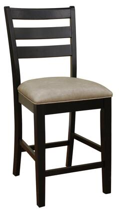 American Heritage 700201BLK Salma Series Transitional Bonded Leather Wood Frame Dining Room Chair