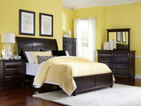 Broyhill FARNSWORTHBEDSLEIGHBEDKSET4 Farnsworth King Bedroom