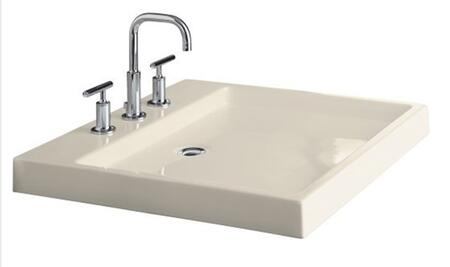 "Kohler K-2314-8- 24"" Fireclay Wading Pool Bathrom Sink with 8"" Centers from the Purist Collection:"