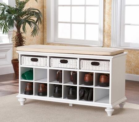 Holly & Martin 09159050540  Armless Wood Fabric Bench