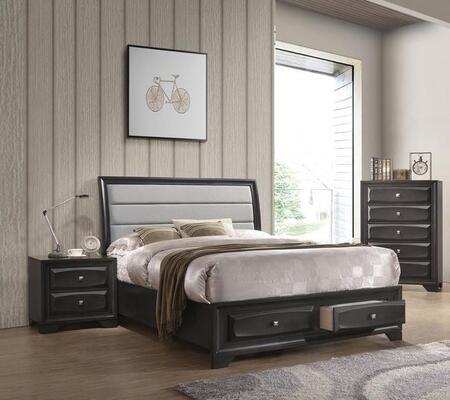 Acme Furniture Soteris 3 Piece Queen Size Bedroom Set