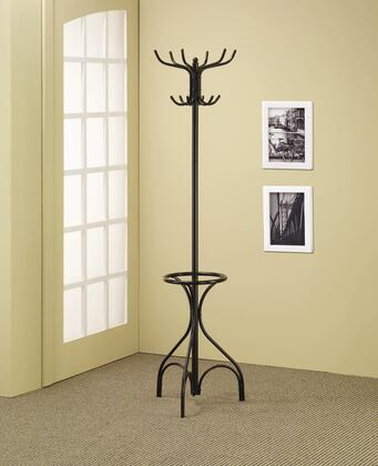 Coaster 90082 Coat Rack with Spinning Top, Umbrella Stand, Double and Triple Tiered Hooks in