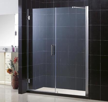 DreamLine SHDR-20557210 Unidoor Frameless Hinged Shower Door With Reversible For Right Or Left Door Opening, Self-Closing Solid Brass Wall Mounted Hinges (5 Degree Offset) & In