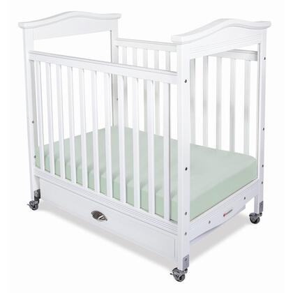 "Foundations 1832XXX Biltmore Collection Clearview Compact Fix-Side Crib with 3"" Antimicrobial Mattress:"