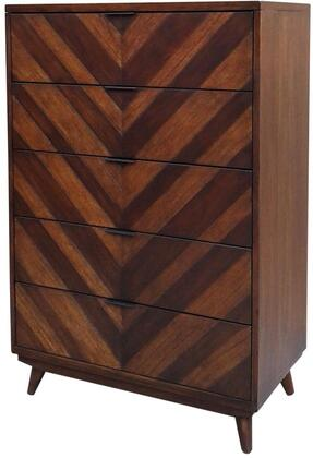 New Pacific Direct Template: Piero Collection 7800021-WG Chevron Chest with 5 Drawers in Weathered Gray