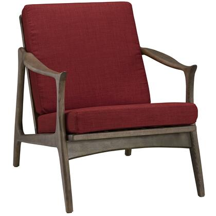 Modway EEI1447WALRED Pace Series Armchair Fabric Wood Frame Accent Chair