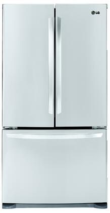 LG LFC25776ST  French Door Refrigerator with 25 cu. ft. Total Capacity 4 Glass Shelves