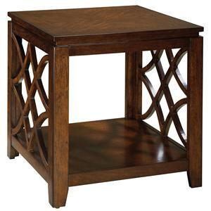 Standard Furniture 23442 Woodmont Series Transitional Square 0 Drawers End Table