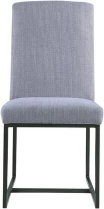 Donny Osmond Home 107383 Chancelor Series Transitional Fabric Metal Frame Dining Room Chair