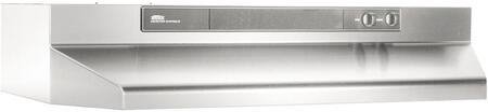 "Broan 46000 4636 36"" Under Cabinet Range Hood With 190 CFM Internal Blower and Variable Speed Controls in"