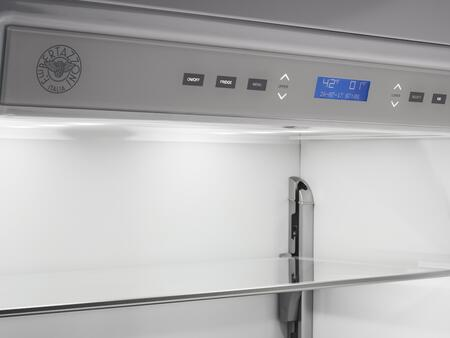 Bertazzoni REFPIX Built In Bottom Mount Refrigerator with FlexMode Refrigerator Freezer, Digital User Interface, Custom Icemaker and Interior LED Lighting, in Stainless Steel