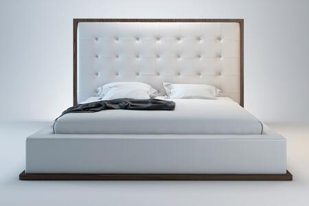 Modloft MD317QWALWHT Ludlow Series  Queen Size Platform Bed
