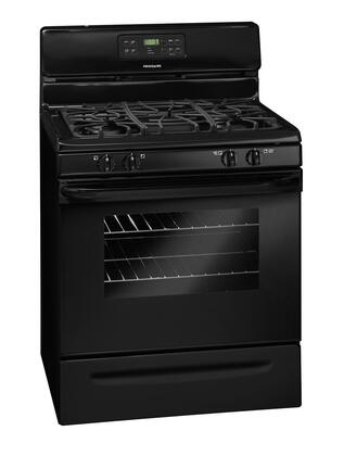 Frigidaire FFGF3027LB  Gas Freestanding Range with Sealed Burner Cooktop, 5.0 cu. ft. Primary Oven Capacity, Storage in Black
