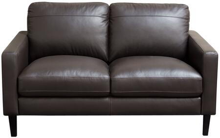 Diamond Sofa OMEGALODC Omega Series Leather Stationary with Wood Frame Loveseat