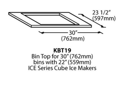 Ice-O-Matic KBT Bin Kit an Accessory to the GEM Series
