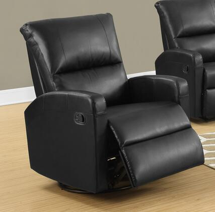 "Monarch I 8084X 41"" Recliner with Lumbar Support, Bonded Leather Upholstery and Padded Head Rest"