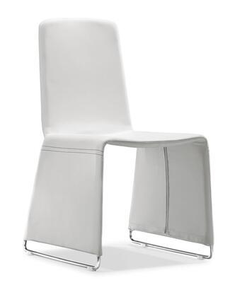 Zuo 102111 Nova Series Modern Leatherette Chromed steel Frame Dining Room Chair