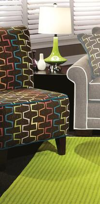 Chelsea Home Furniture 271982011S Simpson Series Accent Fabric Wood Frame Accent Chair