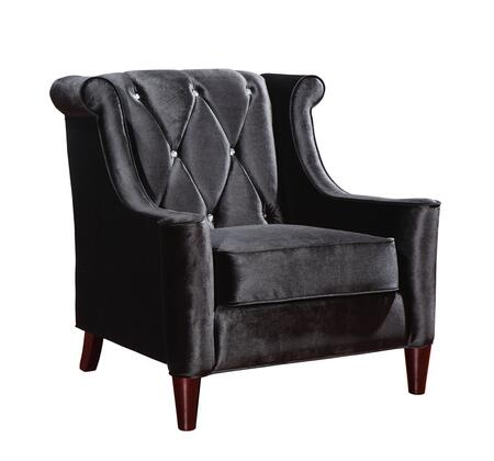 Armen Living LC8441X Barrister Transitional Style Sofa Chair with Wooden Feet Finish and Button-tufted Detail in