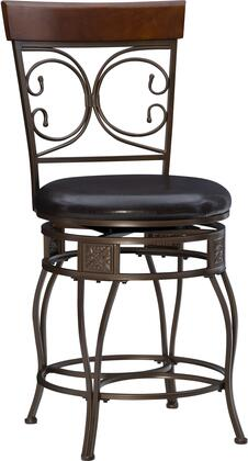 Powell 938B Big & Tall Back-To-Back Scroll Counter Stool