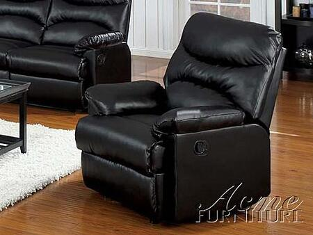 Acme Furniture 10625 Contemporary Laather Wood Frame  Recliners
