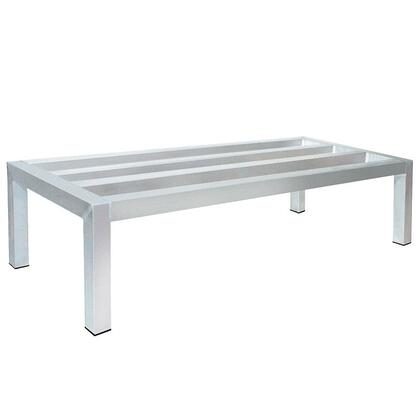 "Advance Tabco DUN-2048 48"" Lite Series Aluminum Dunnage Rack Up, 20"" x 12"""