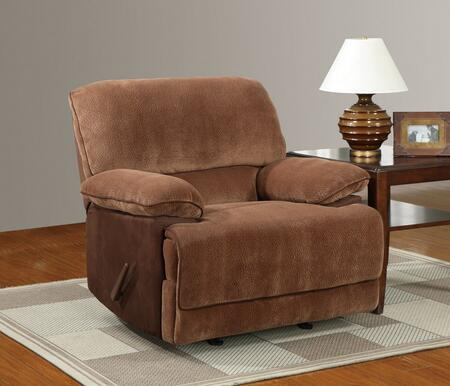 Global Furniture USA U9968ChmpBrSugarMF101R Contemporary Fabric Wood Frame  Recliners