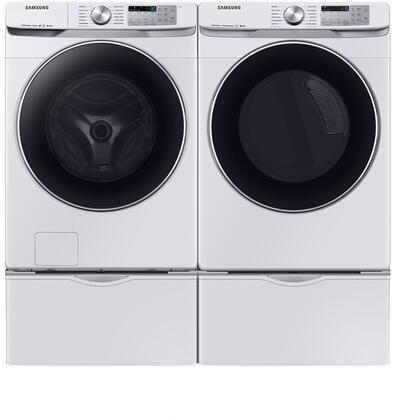 Samsung DVG45R6300W 27 Inch Gas Dryer with 7 5 cu  ft  Capacity