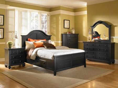 Broyhill MIRRENSTORAGEBEDQ Mirren Pointe Series  Queen Size Poster Bed
