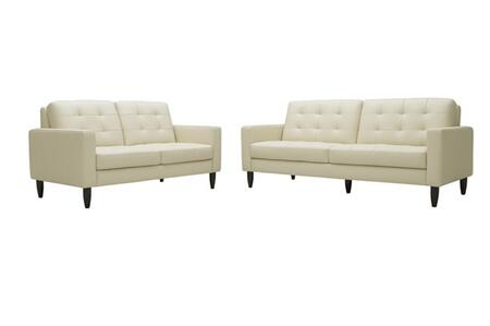 Wholesale Interiors 1197CALEDONIASETBEIGE Contemporary Bonded Leather Living Room Set