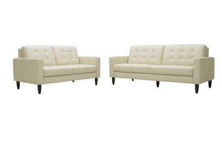 Wholesale Interiors 1197CALEDONIASETBEIGE Contemporary Bonded Leather Living Room Set