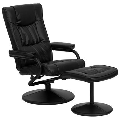 Flash Furniture BT7862BKGG Contemporary Bonded Leather Wood Frame  Recliners