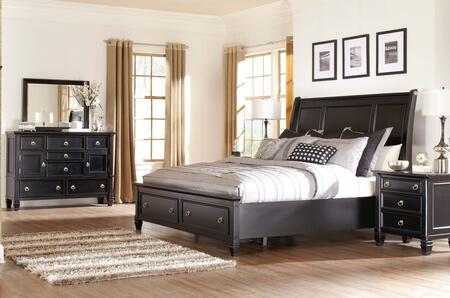 Milo Italia BR764QSBDMN Martinez Queen Bedroom Sets