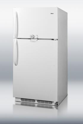Summit CTR17LLF2  Top Freezer Refrigerator with 16.5 cu. ft. Total Capacity 2 Glass Shelves with Door Lock