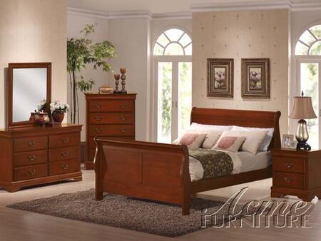 Acme Furniture 00390Q Louis Philippe Series  Sleigh Bed