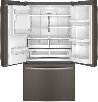 Ge Gfe28hmhes 36 Inch Slate Series French Door Refrigerator With