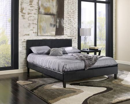 Rest Rite HC88X4A4 Twin Size Faux Leather Upholstered Platform Bed with Contemporary Style and Tapered Legs in