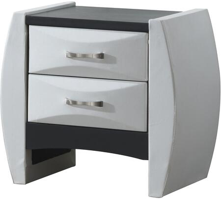 "Glory Furniture 26"" Nightstand with 2 Drawers, Beveled Drawer Fronts, Metal Hardware and Wood Construction in"